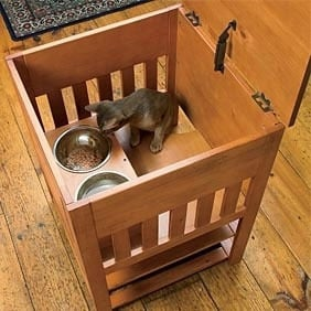 Superbe With The Orvis Dog Proof Feeding Station Your Cat Has A Secure Place To  Eat. Best Of All Its Not On A Kitchen Counter And Where The Dog Can Not  Enter.