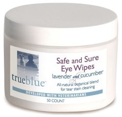 TrueBlue Pet Products: Safe and Sure Eye wipes