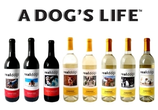 A Dog's Life   Real Dogs & Real Cats personalized wines