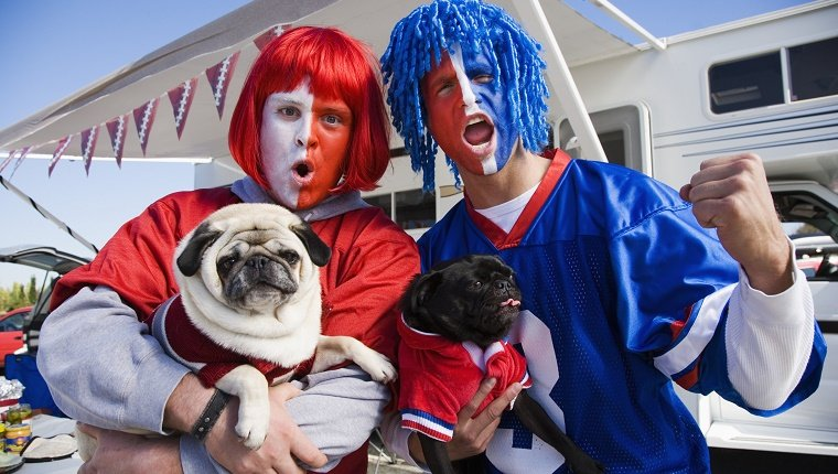 Cheering Football Fans --- Image by © Royalty-Free/Corbis