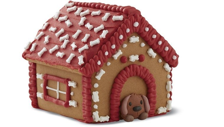 dog gingerbread house