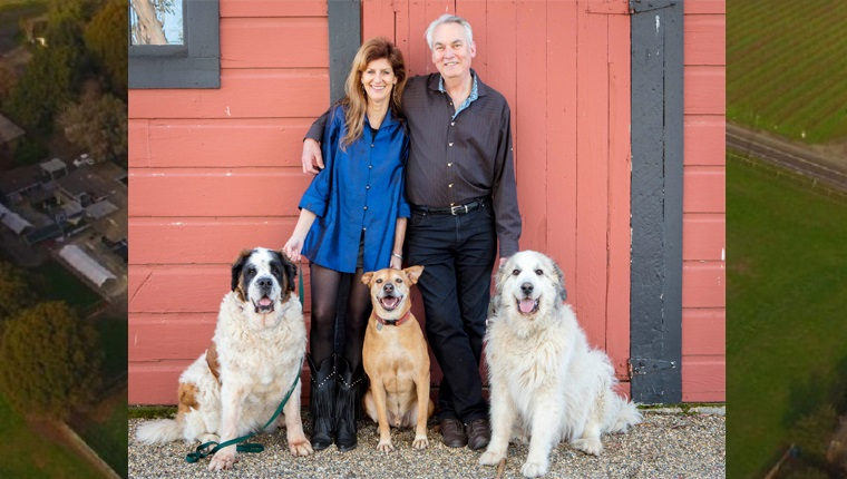 founders of jameson animal rescue ranch with their dogs
