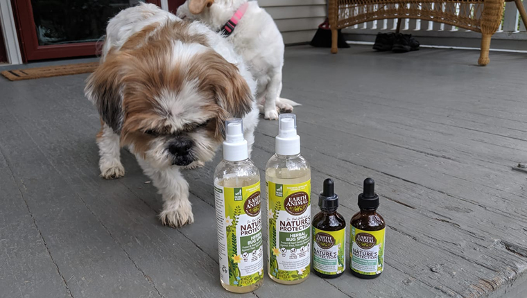 dog with Nature's Protection Herbal Bug Spray