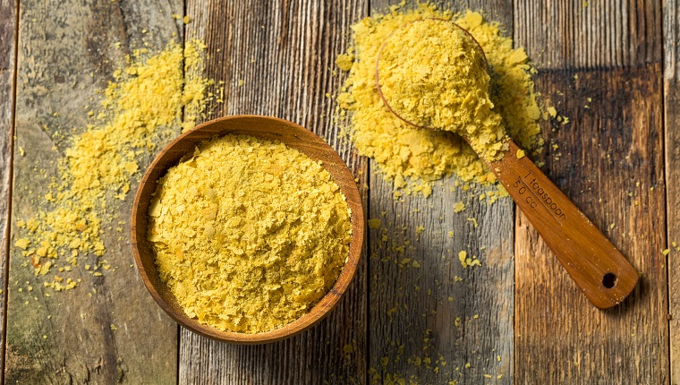 Raw Yellow Organic Nutritional Yeast in a Bowl