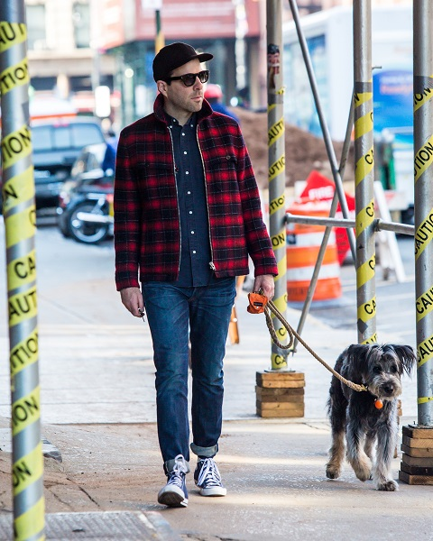 Zachary Quinto, Spock In The New 'Star Trek' Movies, With His Pup
