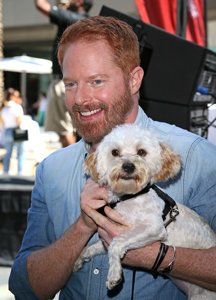 Jesse Tyler Ferguson Of 'Modern Family' With His Pup, Fennel