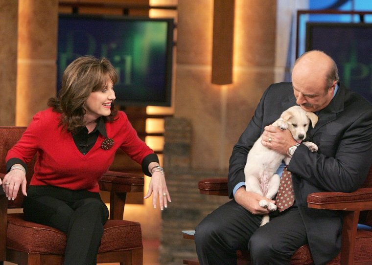 Dr. Phil And His Wife Robin Welcome Their New Rescue Dog Maggie
