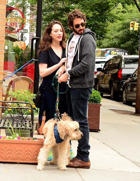 Josh Groban Walks His Dog With Actress Kat Dennings