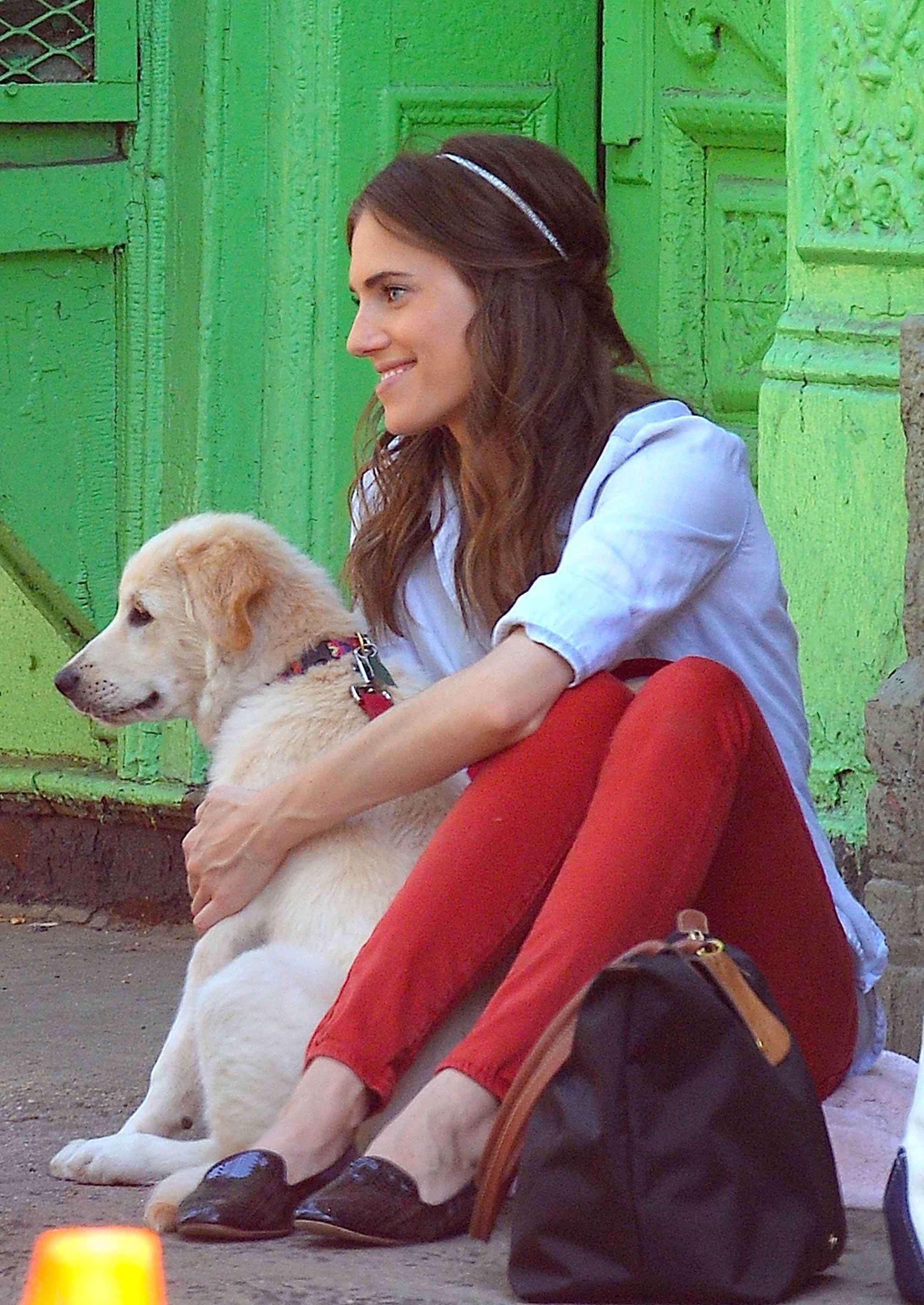 Allison Williams And Her Dog, Moxie