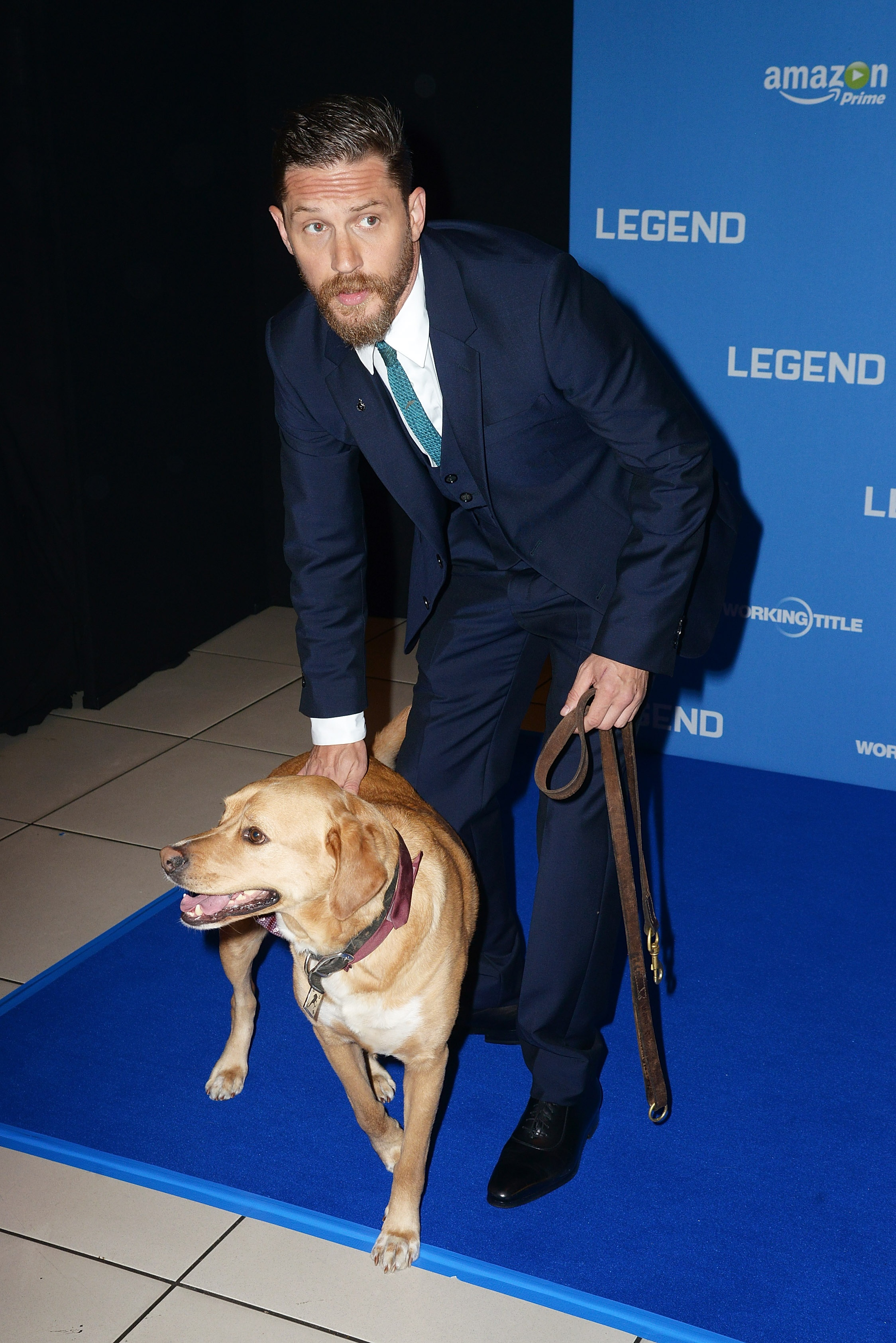 Tom Hardy And His Dog, Woody
